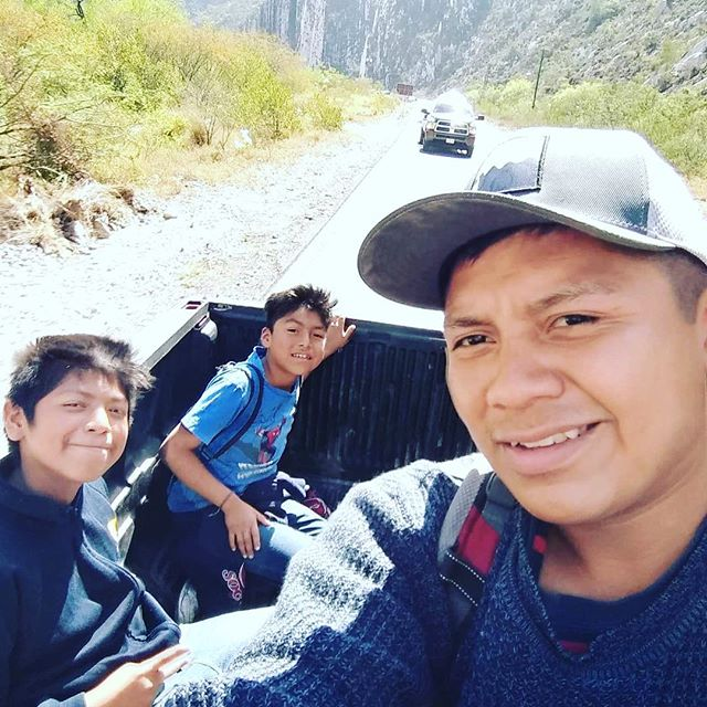 I was touched by this photo Oso sent me yesterday with his brothers en-route to go hiking and rock climbing in order to build up his fitness level for the Pico de Orizaba mountain climb. Oso is super excited on the opportunity given to him to climb Mexico's highest mountain in April. The documentary project is progressing well and a crowd funding campaign will be launched soon. More info on this project in the profile. // Me senti conmovido cuando recibi esta foto de Oso ayer con sus hermanos en ruta para ir de excursión y escalar a fin de mejorar su condición fisica para poder subir el Pico de Orizaba. Oso está súper emocionado por la oportunidad que se le brinda de subir la montaña más alta de México en abril. El proyecto documental está progresando bien y pronto lanzaré una campaña de crowdfunding. Ver perfil para más información sobre este proyecto. . . . #monterreymexico #givingback #rockclimbingmexico #escaladamexico #picodeorizaba #climbvolcanoes #adventuredocumentary  #mexicanvolcanoes #rockclimbingmexico # montañismo # montañismomexico #givingback #inspiredtclimb #volcanoes #mountaineering #unaffordablemountains