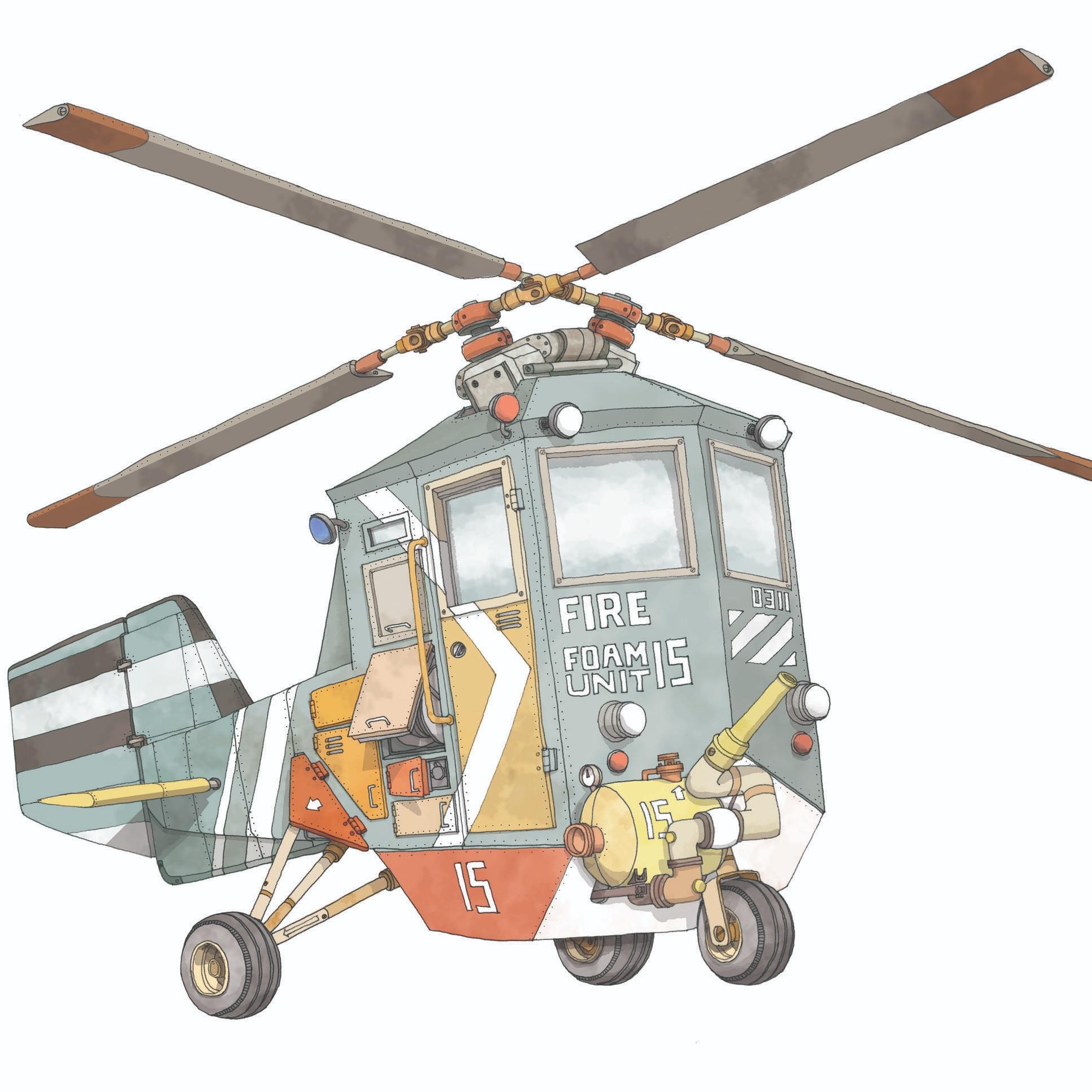 Flettner Foam Helicopter
