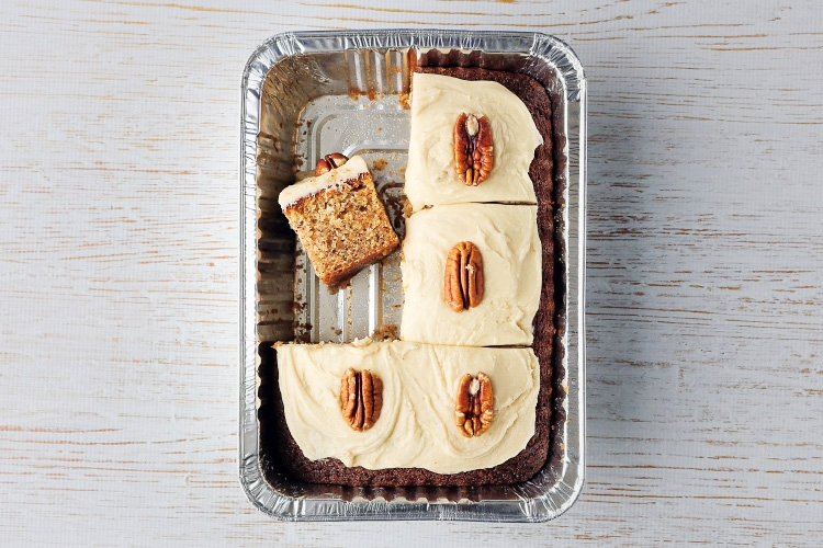 Maple and pecan cake