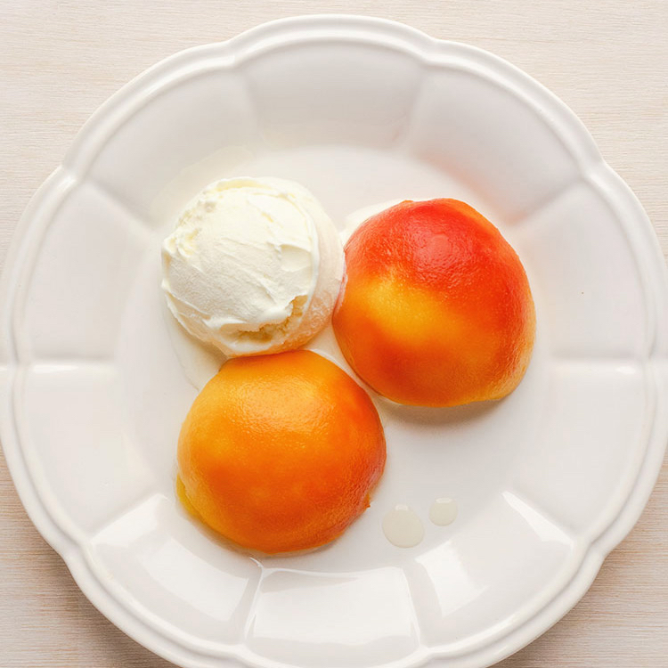 Marsala-poached peaches