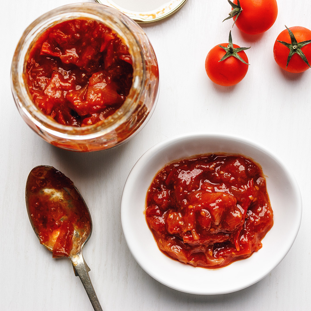 Spicy cherry tomato relish