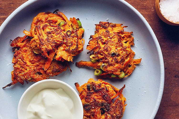 Carrot and ginger fritters