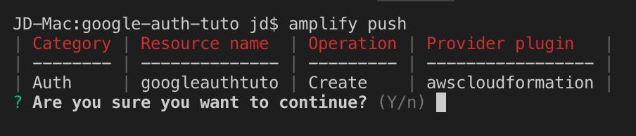 amplify push