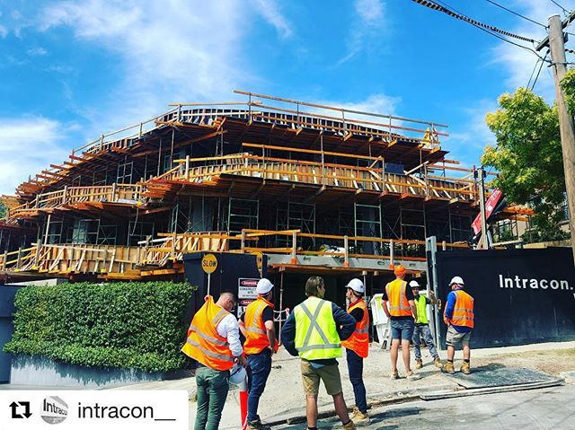 Toorak apartments getting close to start our rough in! @intracon__
