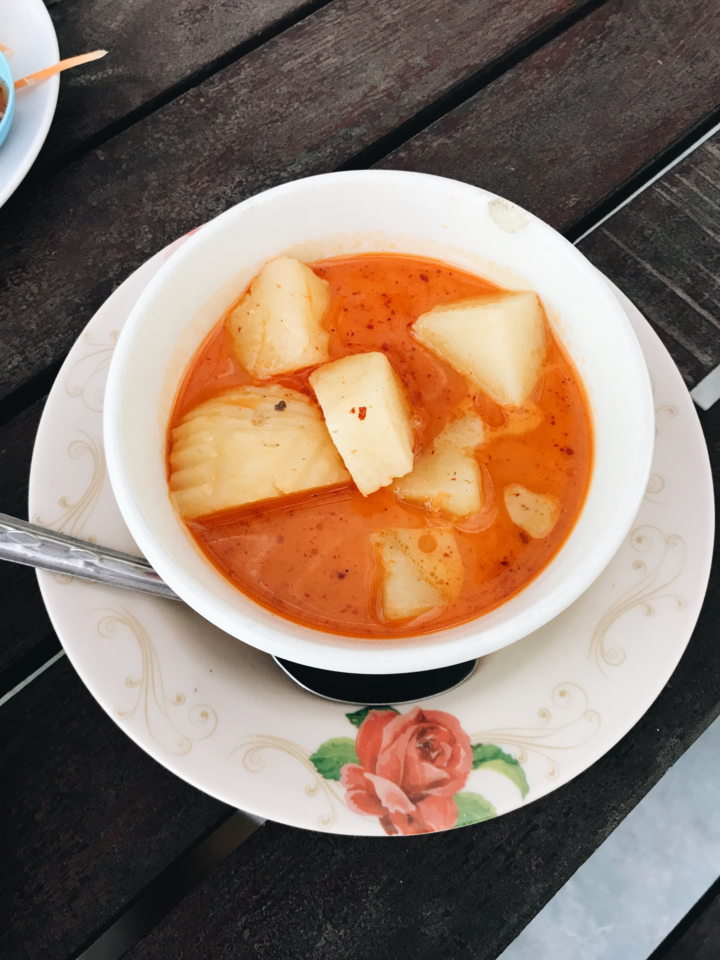 White potato soup -