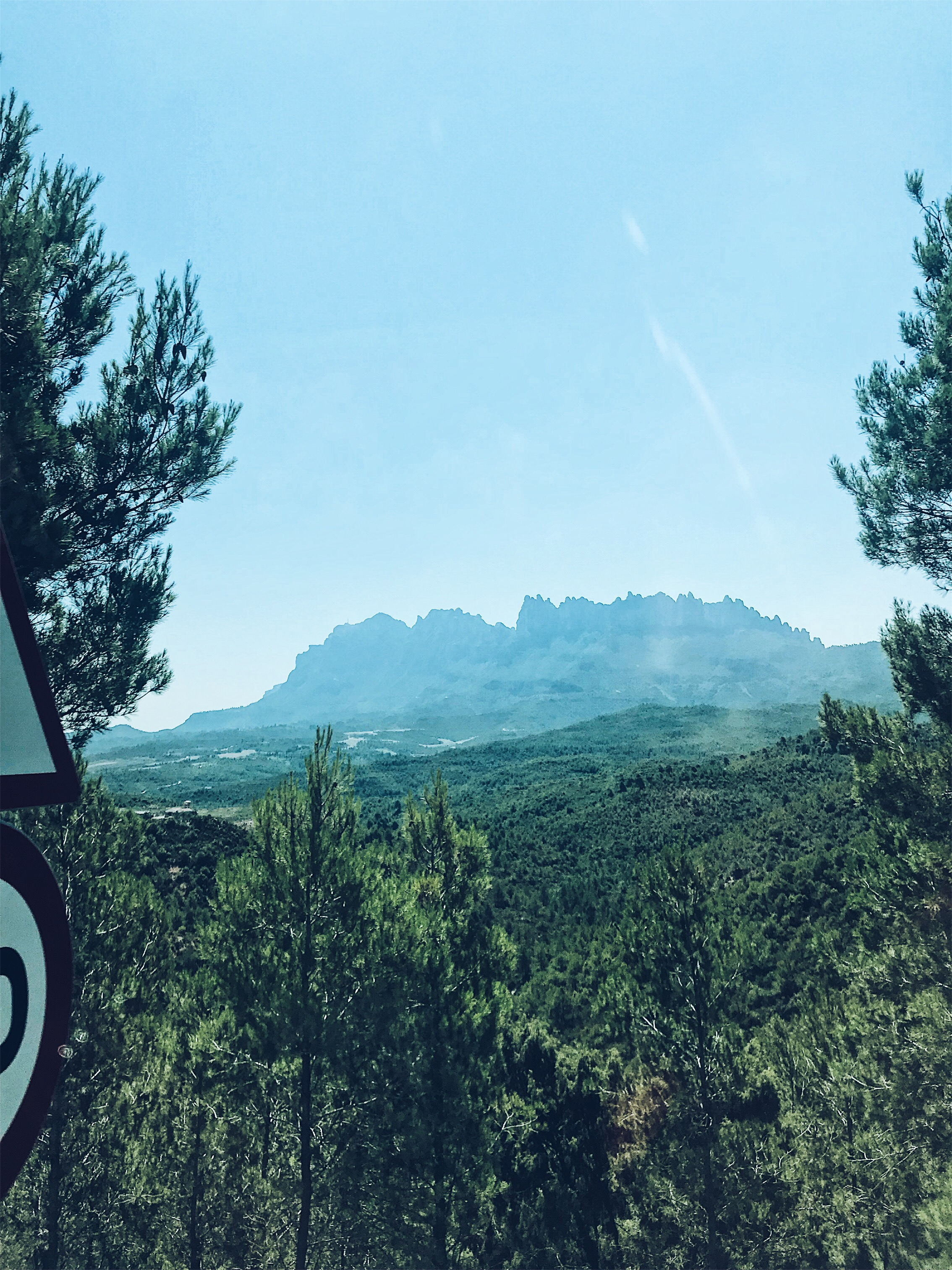 Views of Montserrat from the highway