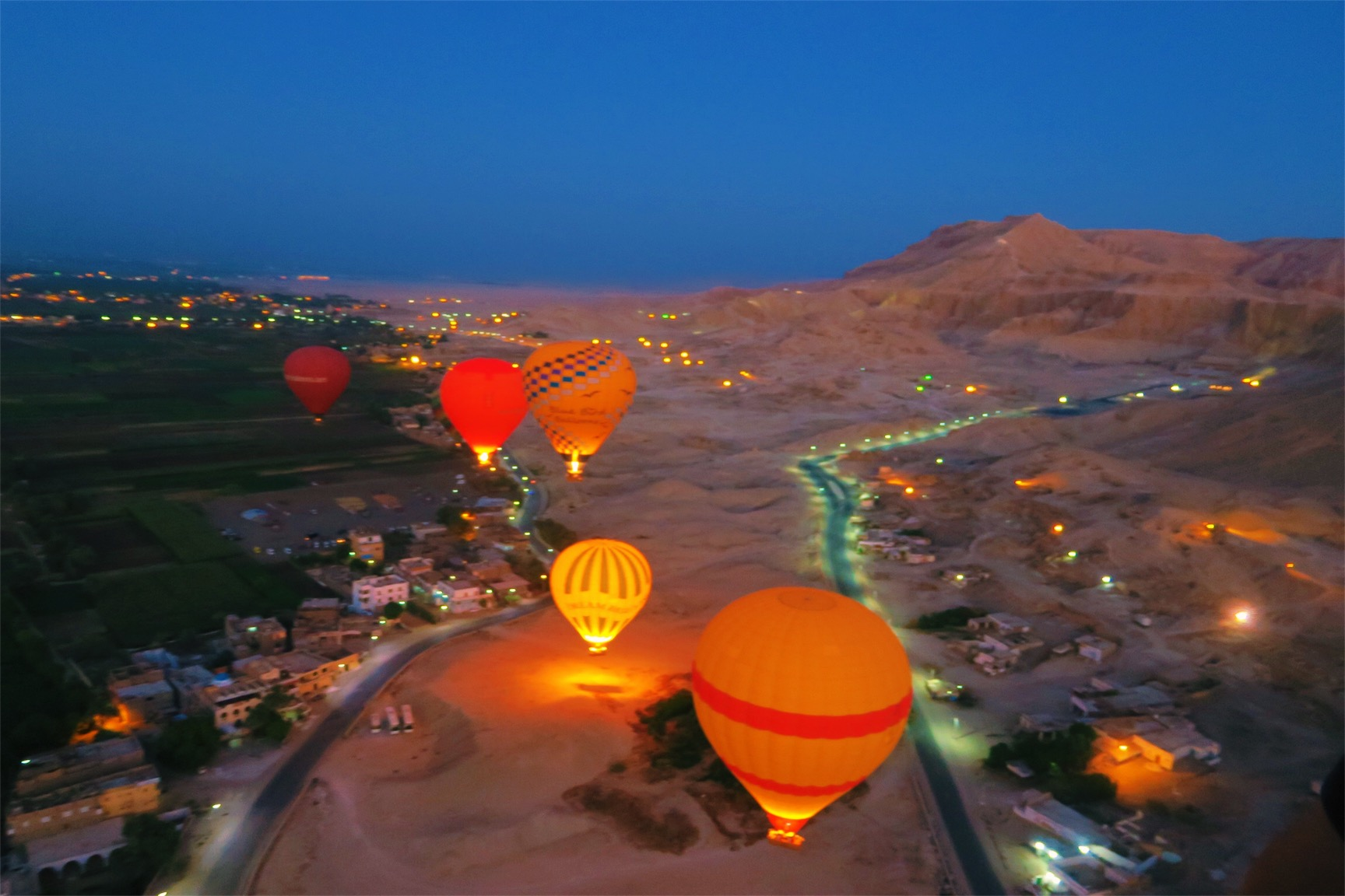 Hot Air Balloon Ride over the Valley of The Kings booked through Luxor For You.