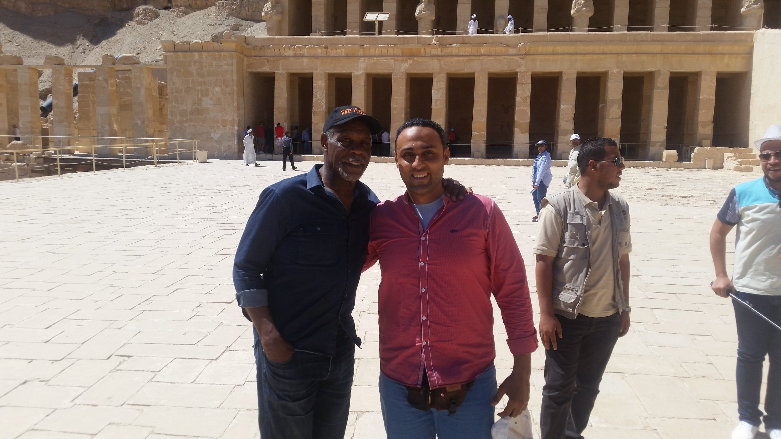 Ahmed- Founder of Luxor For You pictured with Danny Glover