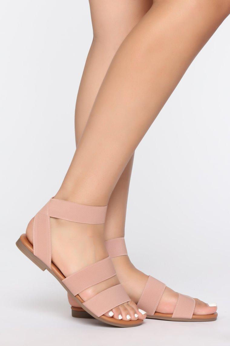 Fashionova Typical Behavior Blush Sandals (9)-$19.99