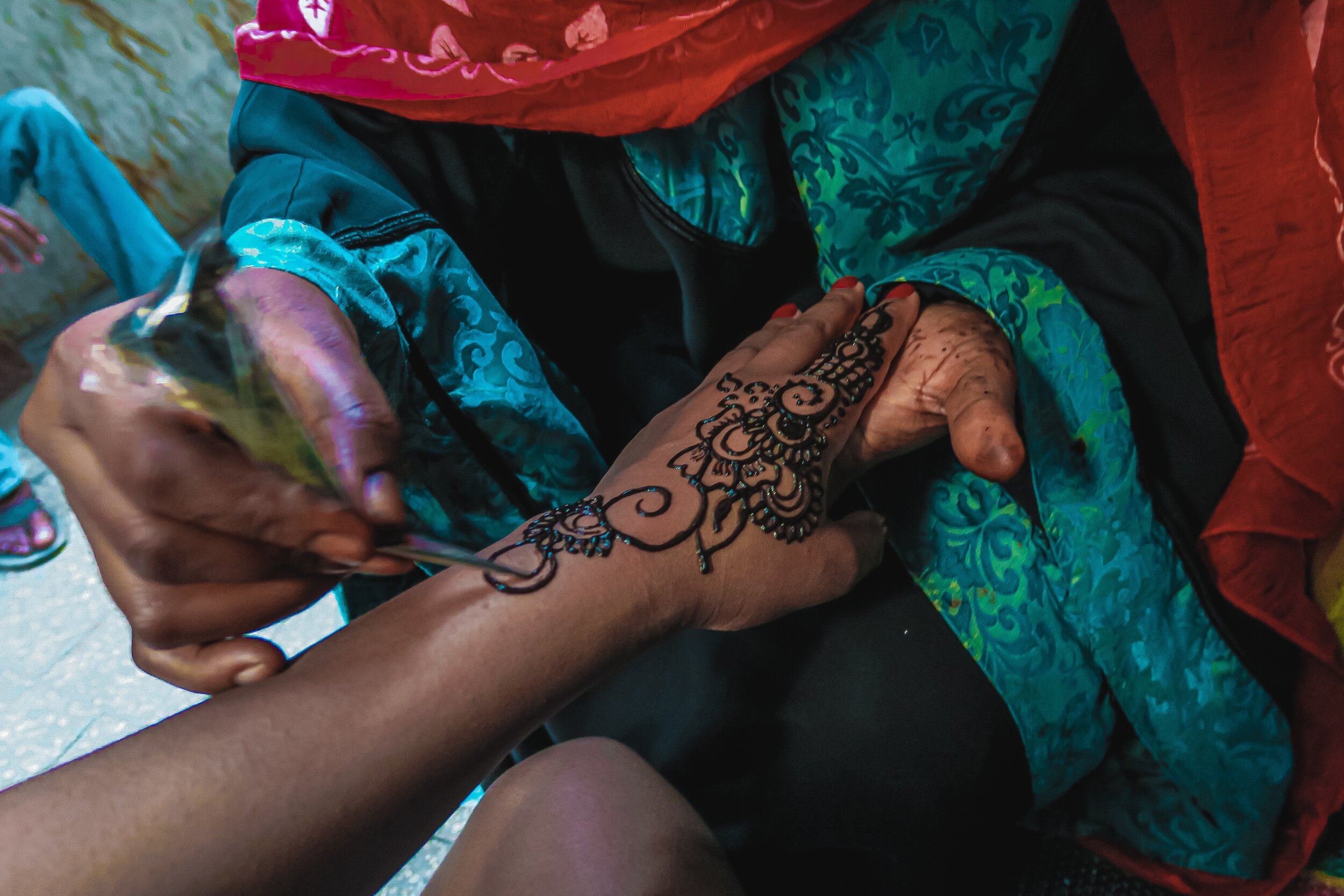 Black Henna is a must - But make sure to do a patch test BEFORE getting black henna as some people can be highly allergic