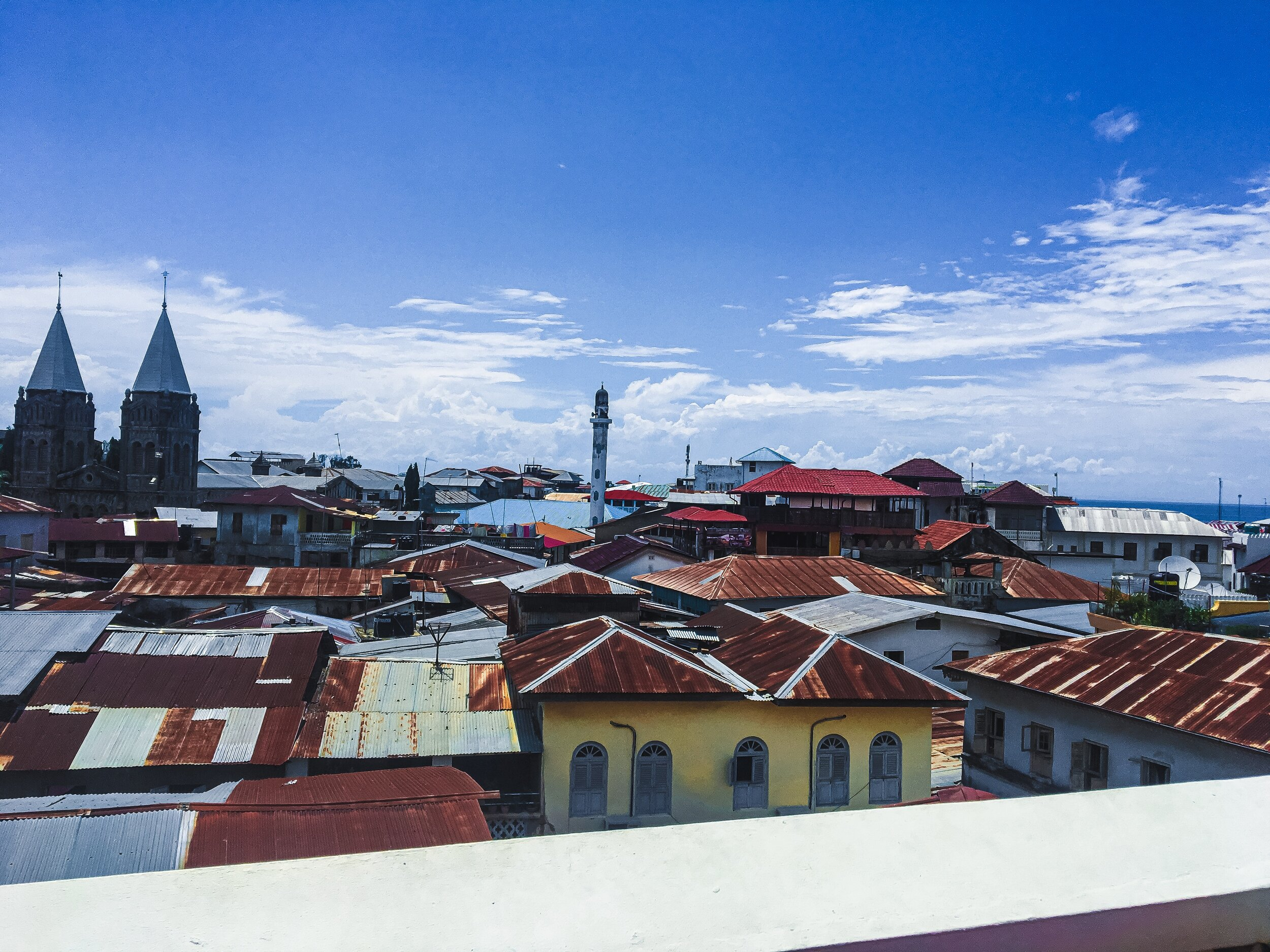 Roof top views of Stone Town