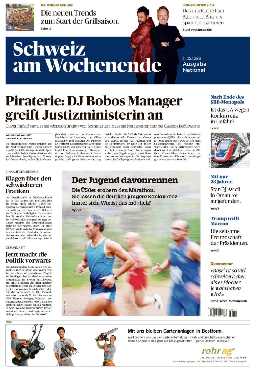 Schweiz am Wochenende - Annonces de rubrique, éducation et formation continue