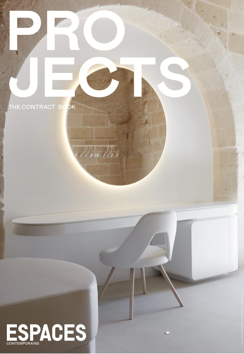PROJECTS - Das Jahresmagazin von Espaces contemporains ist als eigenständiges Magazin konzipiert und präsentiert Hotels und Hotelanlagen, aber auch Arbeitsbereiche, die aufgrund ihrer hohen Qualität, ihrer Ausstattung oder ihrer Lage ausgewählt wurden.