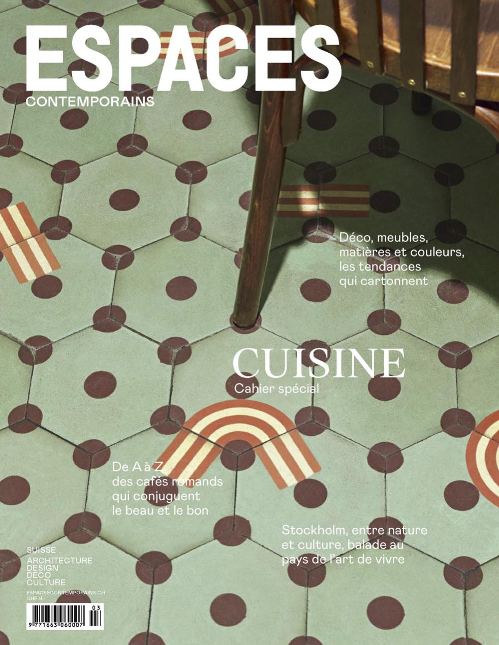 Espace Contemporains - Das wichtigste und grösste Magazine in der französischen Schweiz über Architektur, Design, Innenarchitektur sowie zeitgenössischer Kunst.