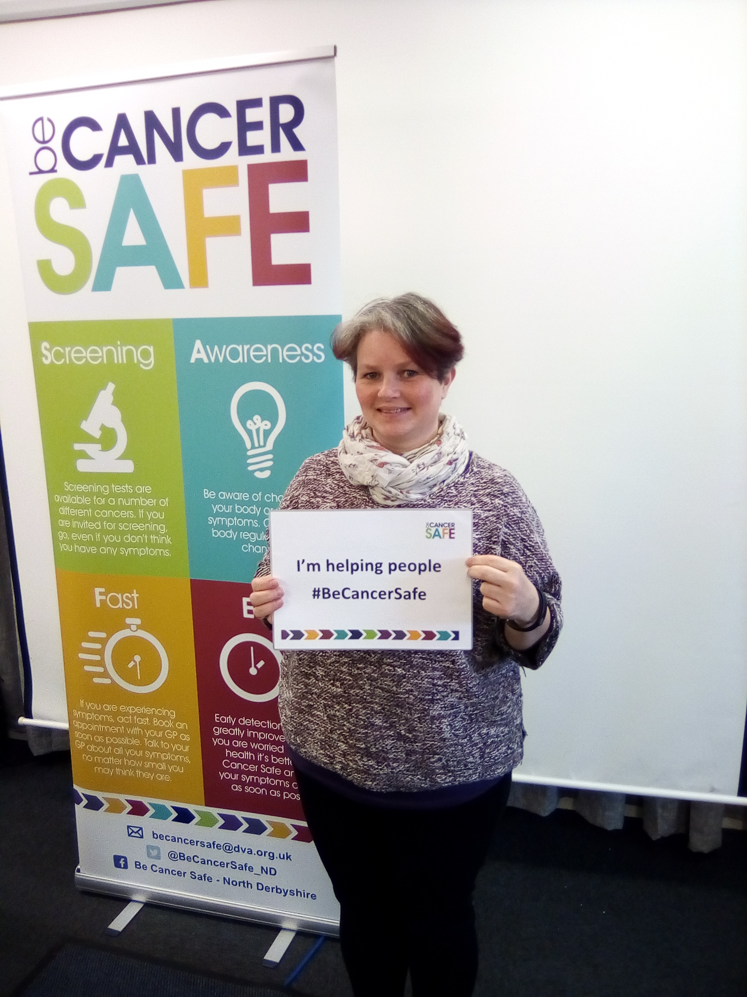 Yvonne from Age Concern is now a Be Cancer Safe champion!
