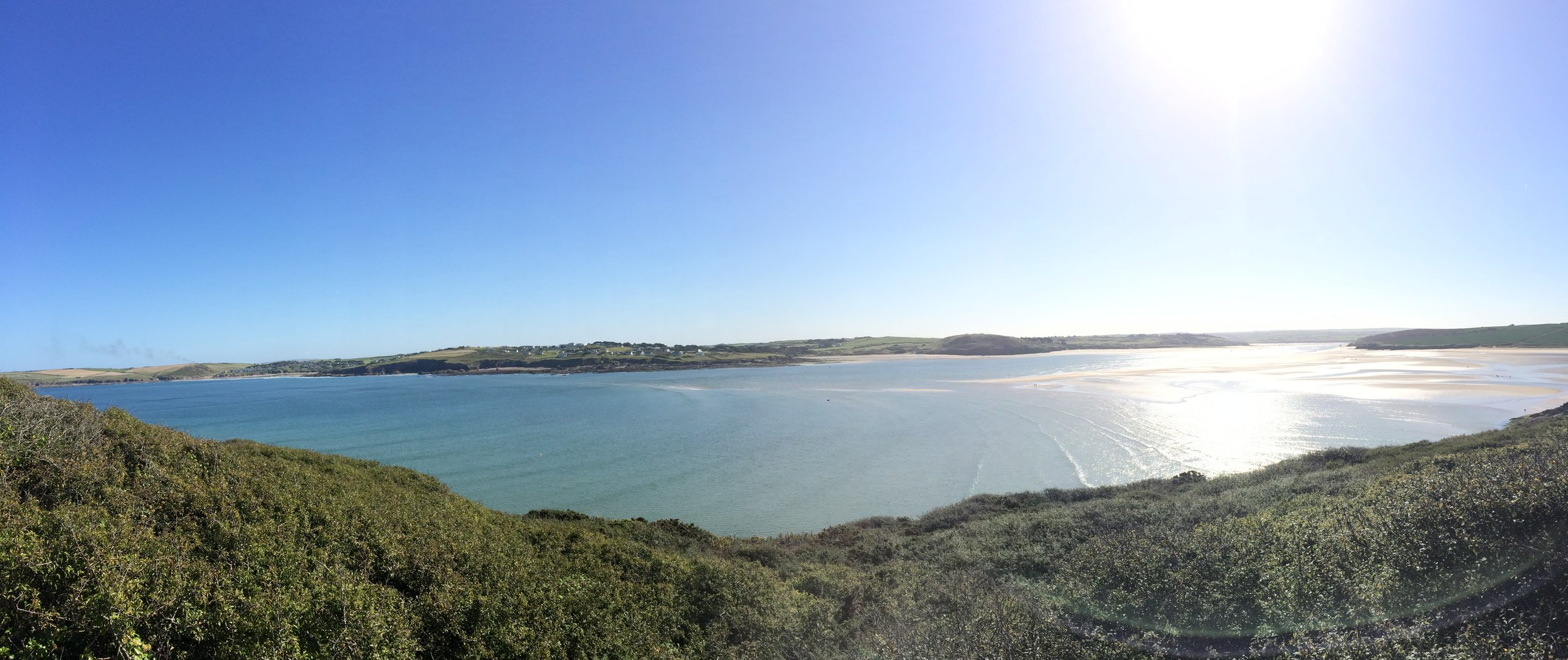 The view of the Camel Estuary from Stepper Point