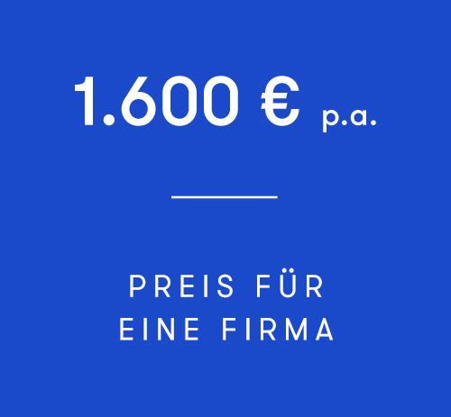 Die Mitgliedschaft als Firma (bis zu 3 Seats) € 1.600,00 netto p.a.