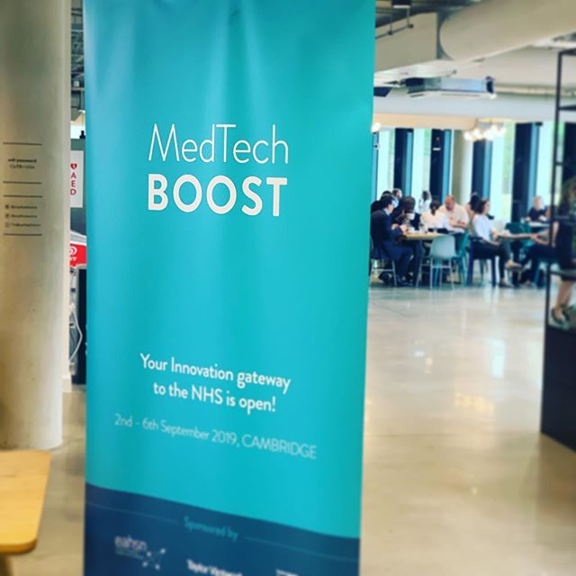 Delighted to sponsor MedTechBoost today at @bradfieldcentre - good luck to everyone making a pitch! #medtechboost