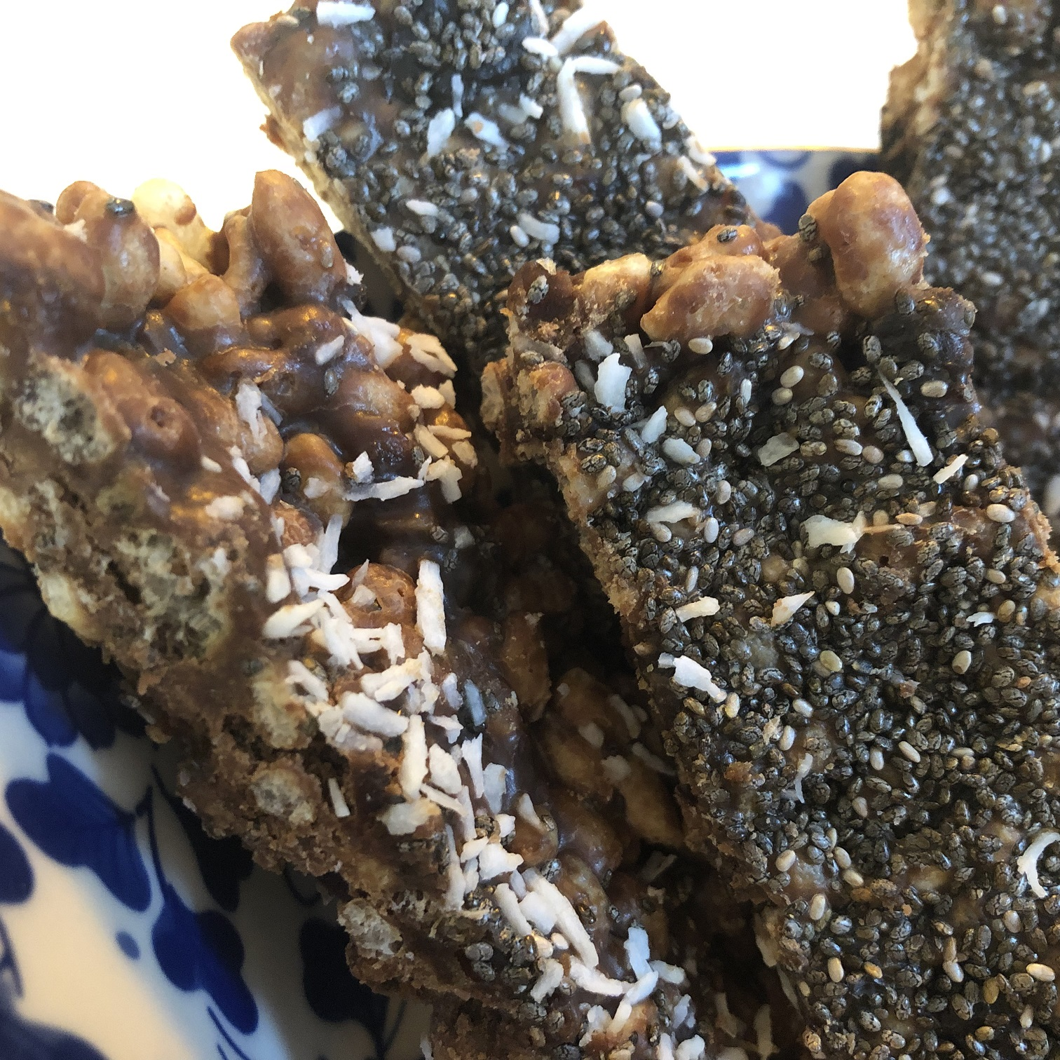Coconut and Chia Cereal Bars