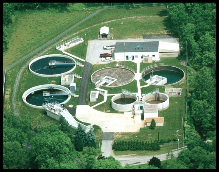 Waste water treatment plant as of 2002
