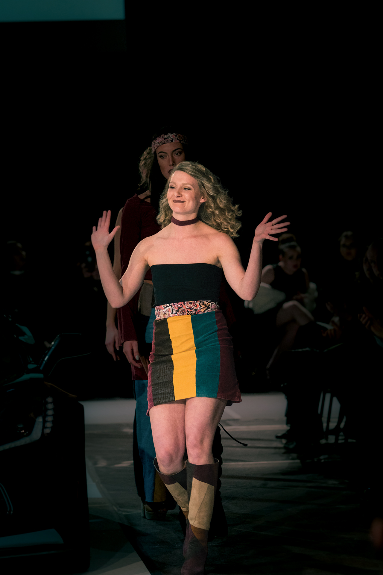 And the 2018 Student Design Award went to… Marissa Nadolney, junior in Fashion Marketing & Management, who received the award for the third year in a row. She was one of eight student designers who lit up the runway modeling their unique visions.