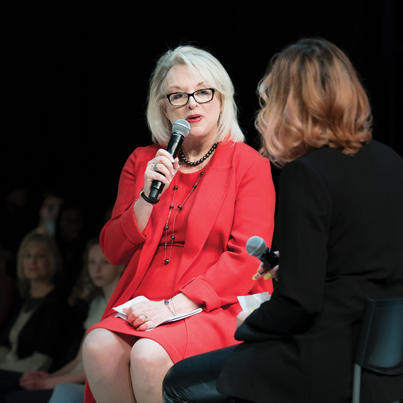 Style Show keynote speaker Margery Krevsky-Dosey, founder and owner of Productions Plus – The Talent Shop, provided a glimpse of real-world business strategy as she told students about the close ties between fashion and automotive design.