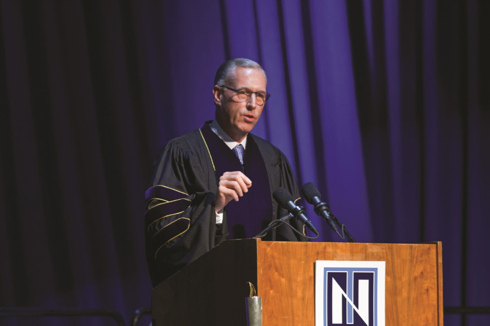 Jim Fitterling, Dow's chief executive officer, delivered the keynote address at Northwood's December 2018 commencement ceremony.