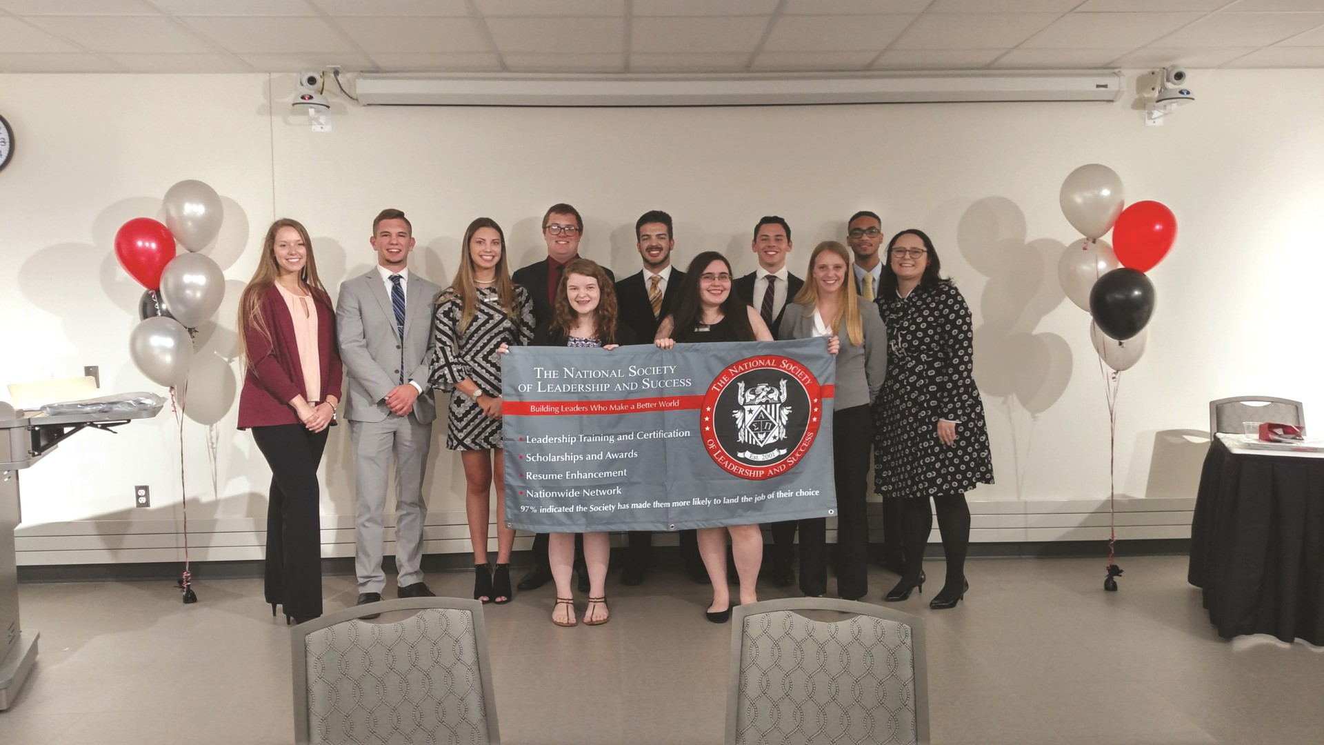 The 2018-19 executive board members have helped make the new NSLS chapter one of the largest student organizations at Northwood.