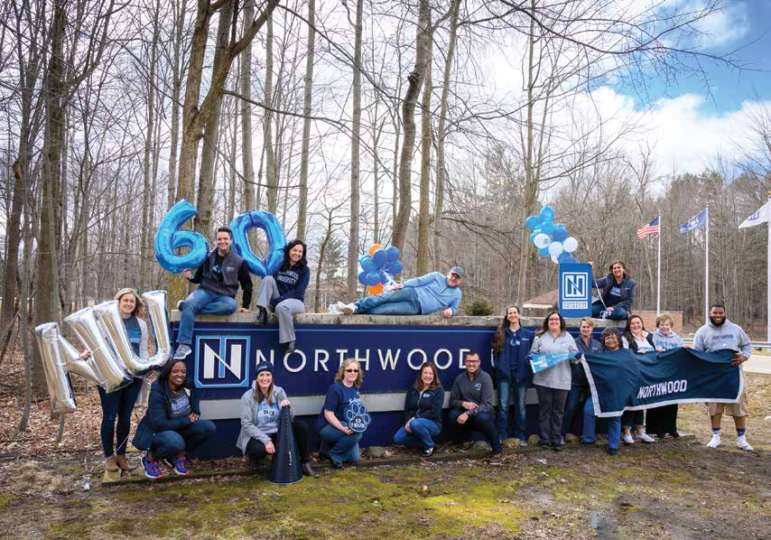 On March 23rd, Northwood celebrated the 60th anniversary of its founding. Faculty and staff marked the occasion with balloons, NU garb and a photoshoot.
