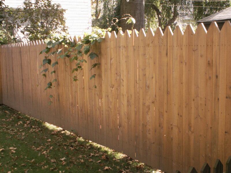 Single Sided Custom Cedar Fence