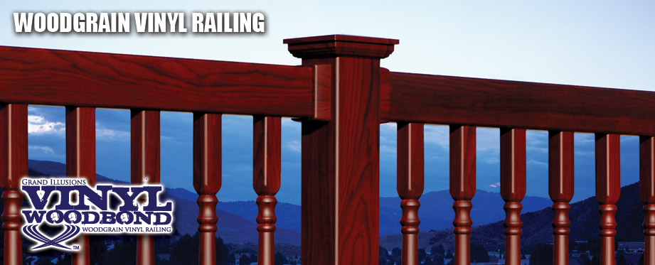 Wood Grain Vinyl Railing