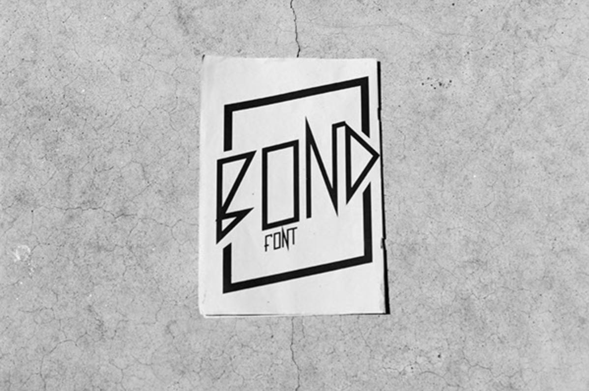 Bond font _ school & personal font project _ 01.png