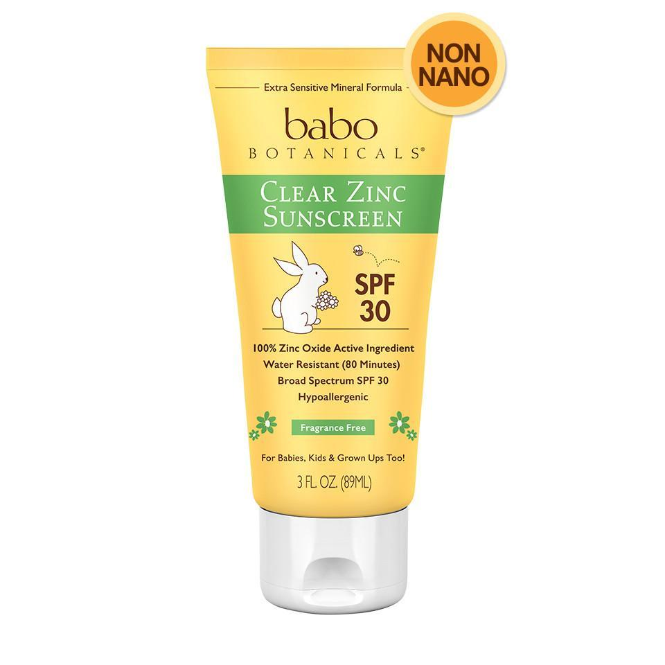 Babo Botanicals Clear Zinc SPF 30 Sunscreen available at   The Greenway Shop   (use code DRCOURTNEY15 to save 15%)