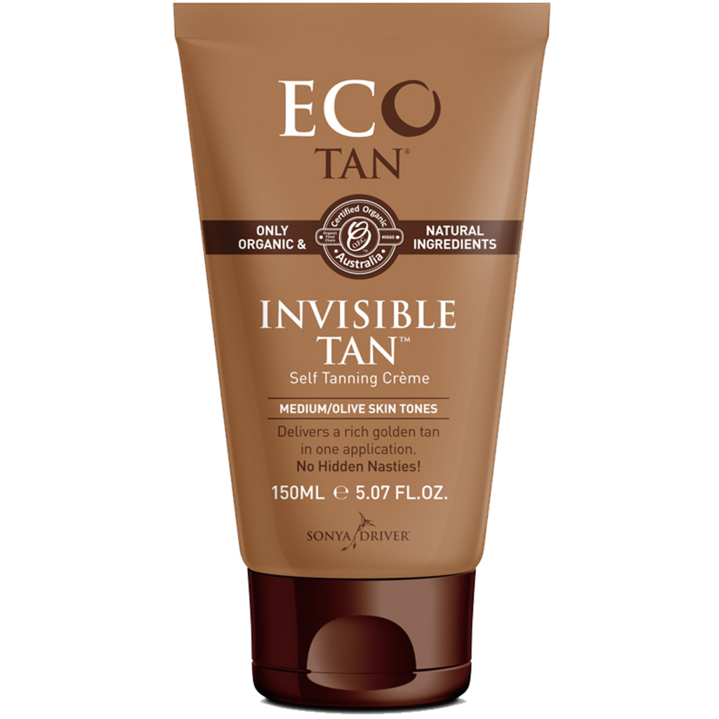 Eco Tan Invisible Self Tanner available at   The Choosy Chick