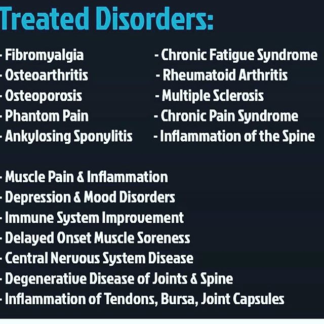 Cryotherapy can greatly help mitigate a lot of the symptoms of the above disorders. Come try it for yourself today!  #cryotherapy #humanoptimization #jointherevolution #arthritisrelief #anxietyrelief