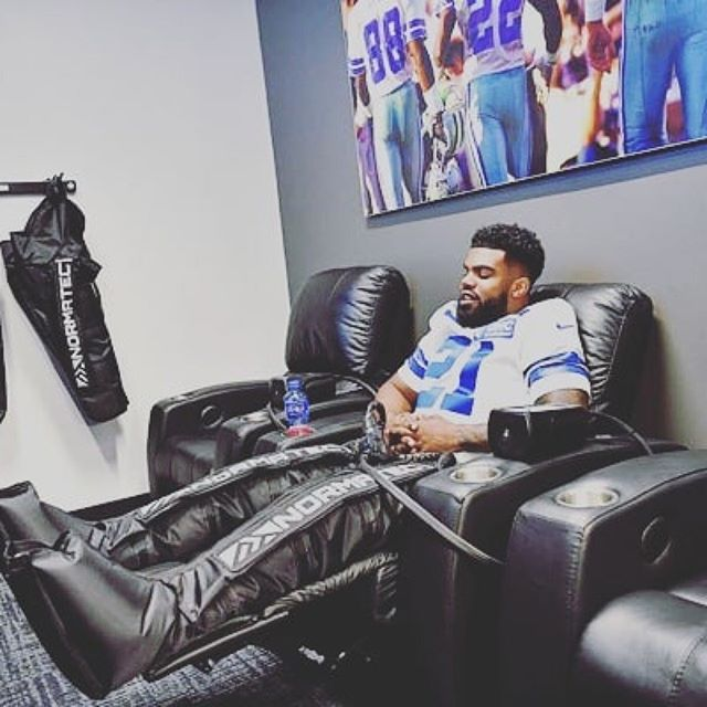 Zeke getting his normatec compression therapy in. Get fresh legs faster with @ntrecovery right in your own backyard with @revolutioncryo  #jointherevolution #cryotherapy #autoimmunedisease #arthritis #anxiety #depression #relief #okc #tinkerafb