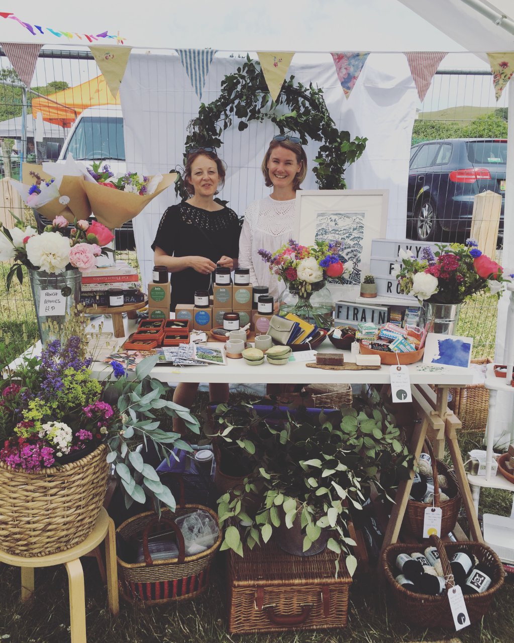Rebecca and I at the Criccieth Fair, summer 2018