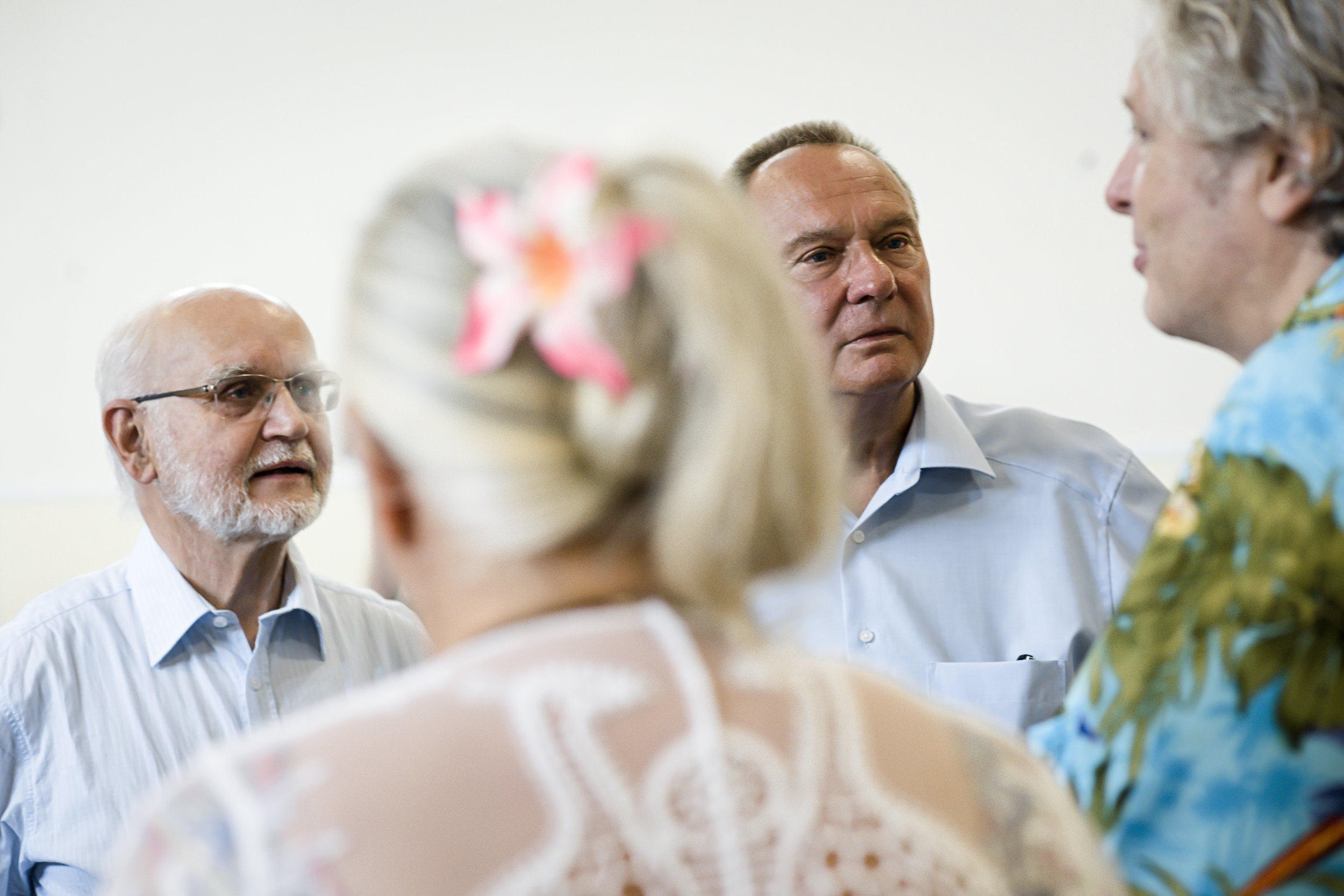 (v.l.n.r.) Prof. Dr. Dr. h.c. Friedrich Glasl, Insa Sparrer, Franz Huber, Prof. Dr. Matthias Varga von Kibéd
