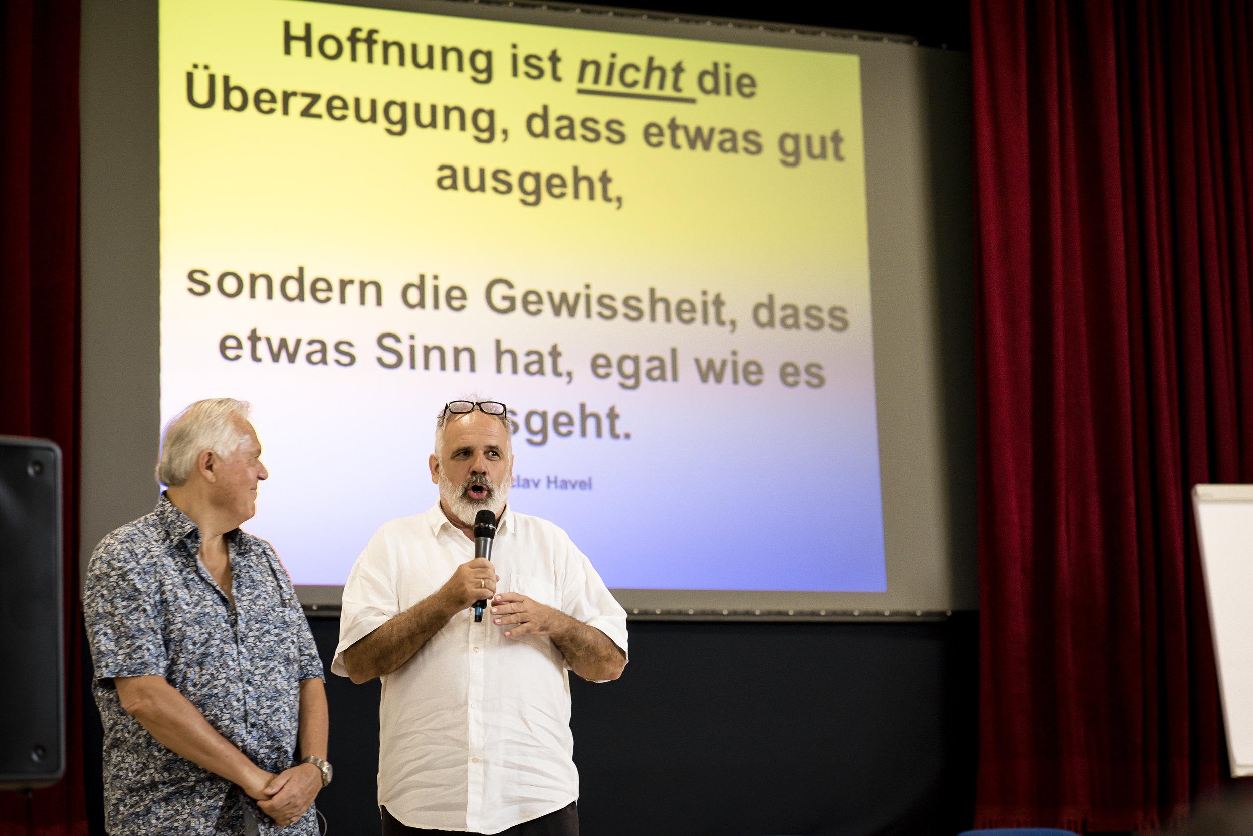 (v.l.n.r.) Dr. Gunther Schmidt, Dr. Philip Streit