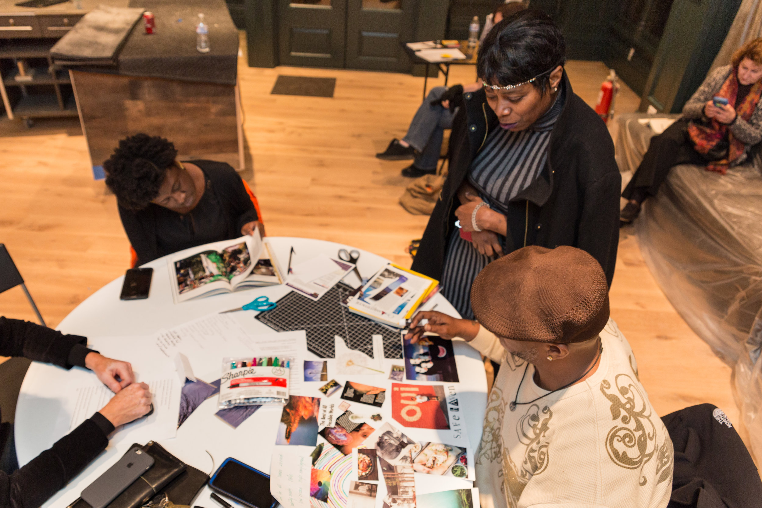 """Participants in the """"Reparations"""" charrette at Pittsburgh's City of Asylum, 2016. Photo by Heather Kresge."""