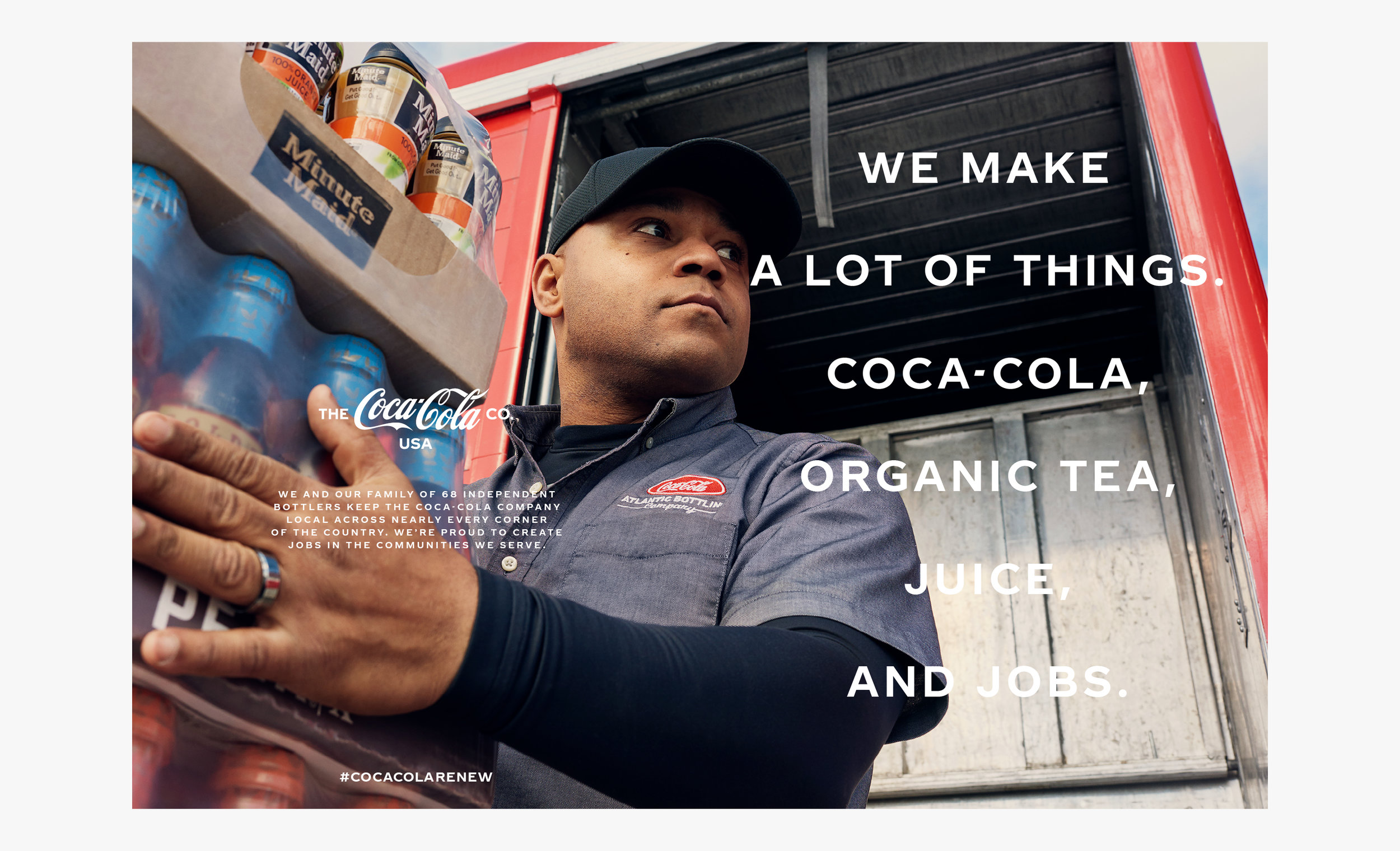 We created a national print and social campaign featuring over 75 Coca-Cola Company employees from 10 cities across the United States.