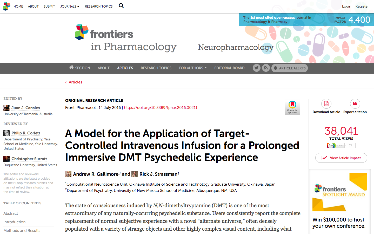 Frontiers |  A Model for the Application of Target-Controlled Intravenous Infusion for a Prolonged Immersive DMT Psychedelic Experience