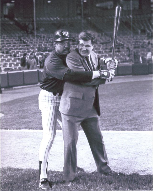 #TBT Reggie Jackson took time showing Ed Lucas how to swing a bat at Yankee Stadium in 1981 - @reggiejackson44 hit 3 consecutive HRs in the 1977 World Series #MrOctober #blackhistorymonth #halloffame #hof #edlucasfoundation #reggiejackson #yankees #baseball