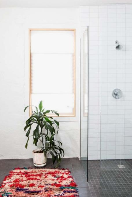 boho bathroom rug