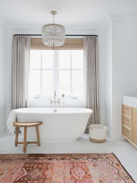 Boho Bathroom Rug, Amber Interiors