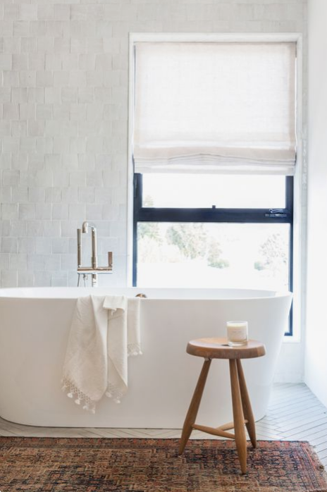 boho bathroom, amber interiors