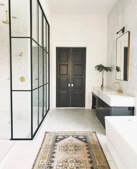 boho bathroom rug, Einteriors