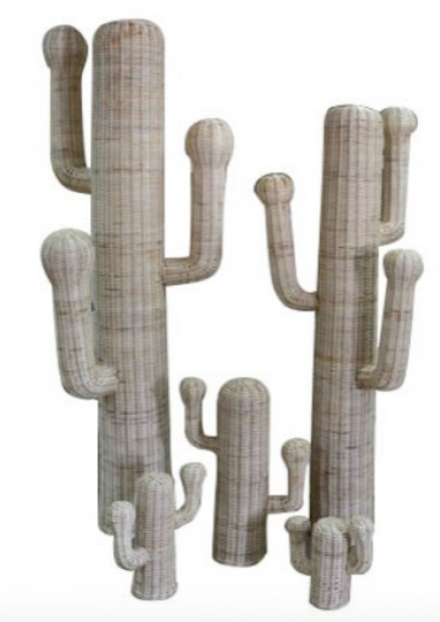 Woven Cactus Statue - This whole family is from Lulu and Georgia