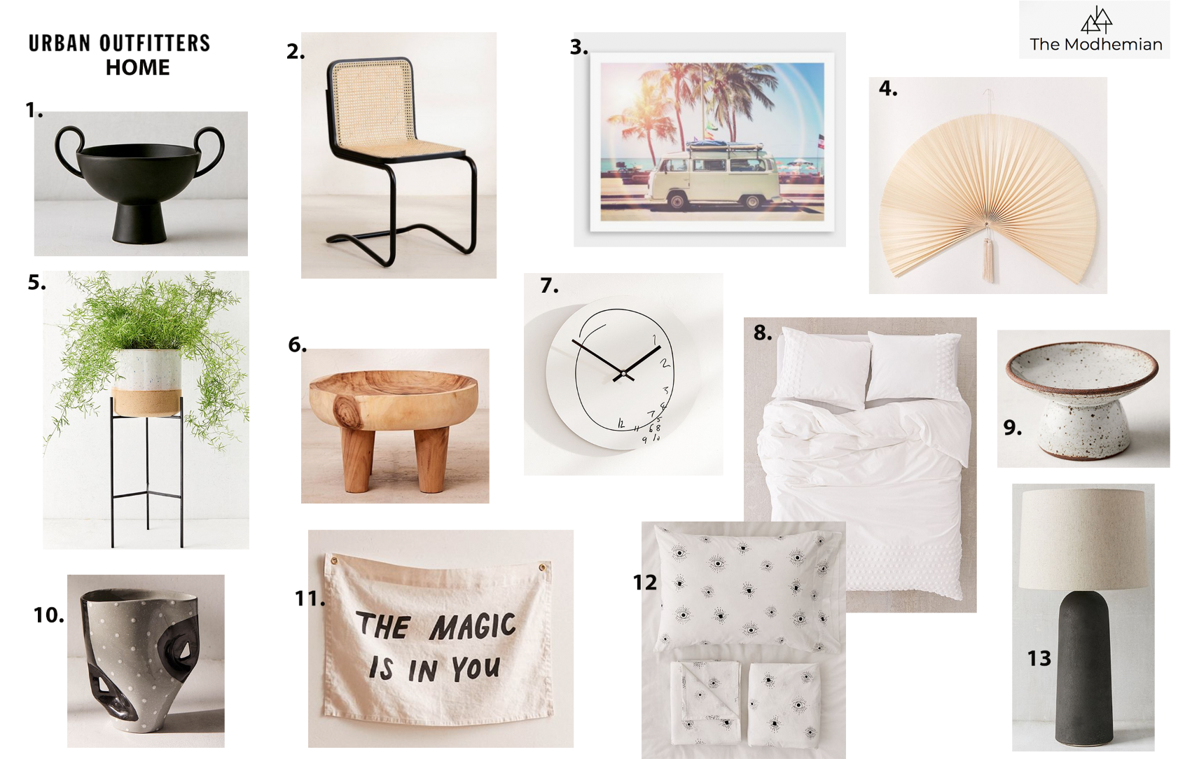 the modhemian's urban outfitters home round up