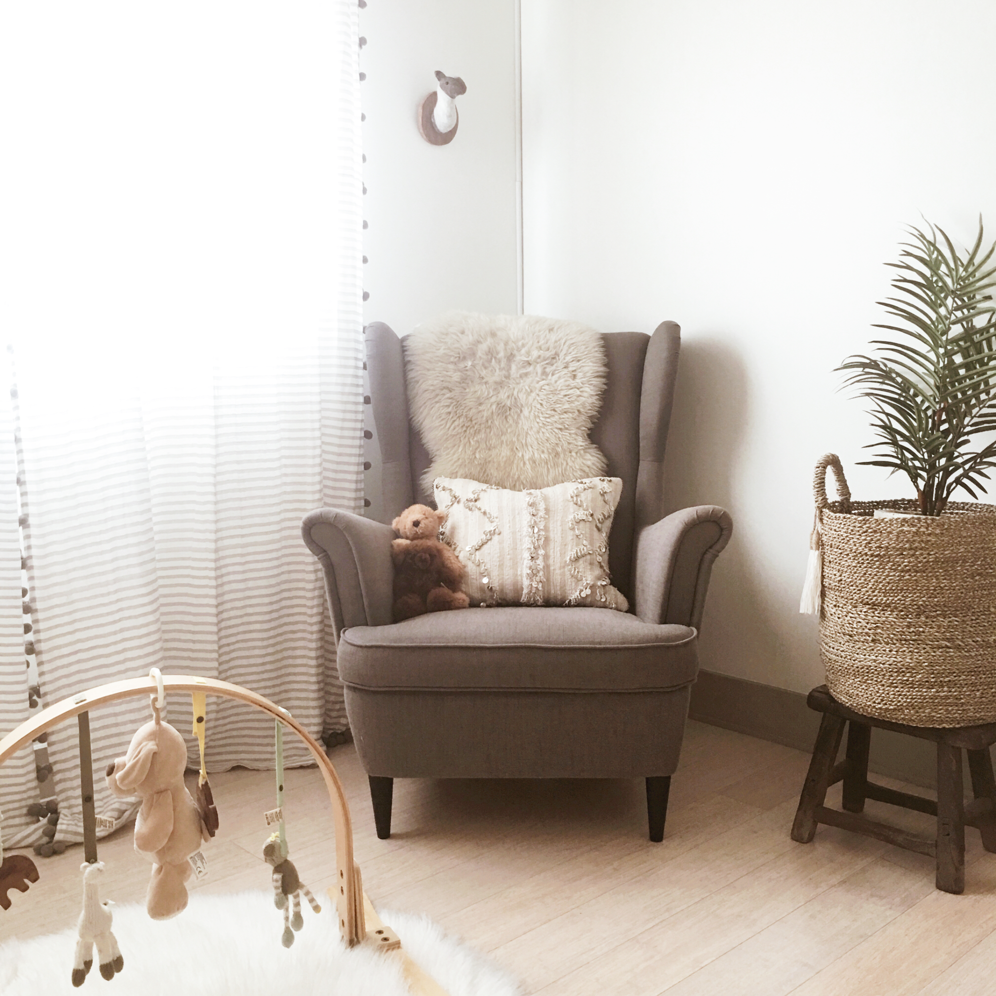 pops nursery, the modhemian, neutral boho nursery decor